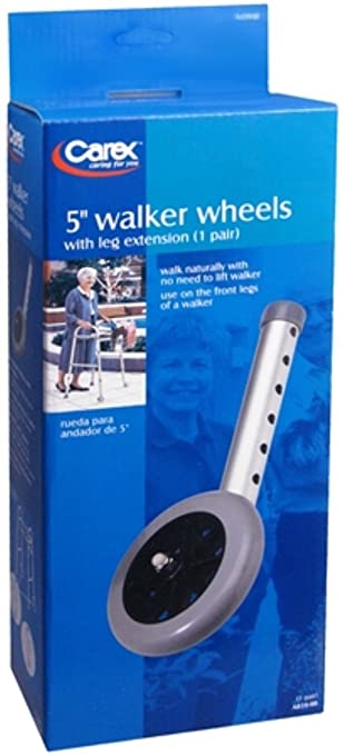 Amazon.com: Carex Walker Wheels 5 Inch A839-00 2 Each (Pack ...
