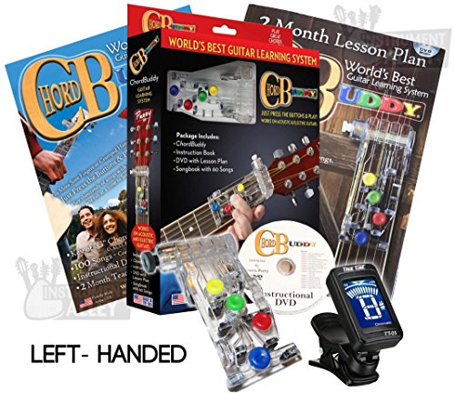 LEFT HANDED Chord Buddy Guitar Learning System w/ True Tune Clip-on Chromatic Tuner LEFTY by ChordBuddy