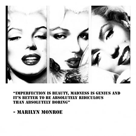 Imperfection marilyn monroe quotes stunning 24x24 unframed canvas art print poster sale on