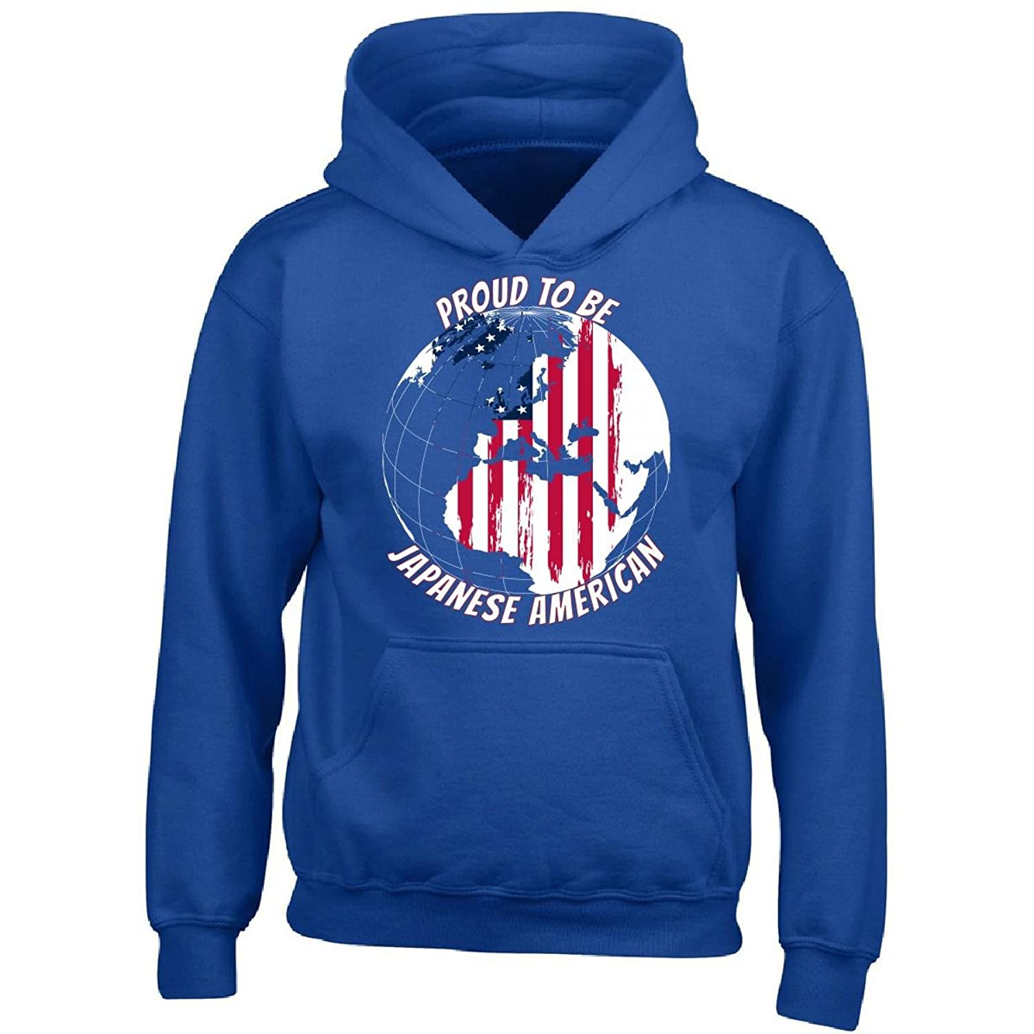 top Proud To Be Japanese American World Map With American Flag - Boy Boys Hoodie hot sale