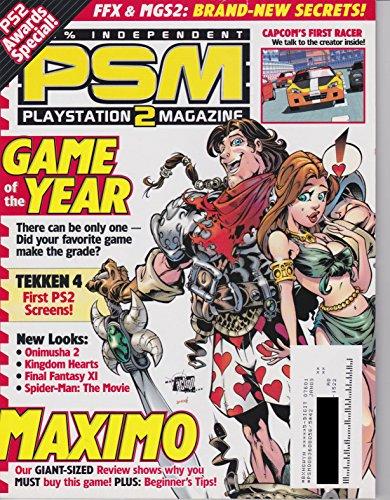 PSM PlayStation Magazine - #55 / February 2002 Issue - Maximo, Tekken 4, Onimusha 2, Kingdom Hearts, Final Fantasy XI, Spider-Man: The Movie