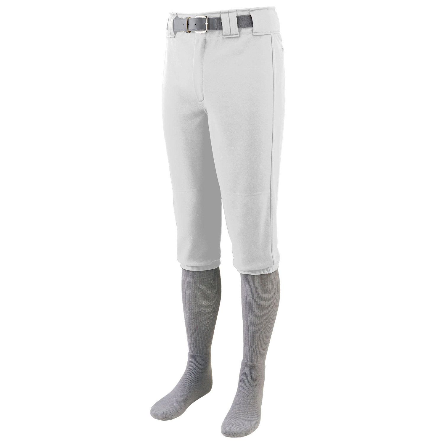 Augusta Sportswear Men's Series Knee Length Baseball Pant - White 1452A S
