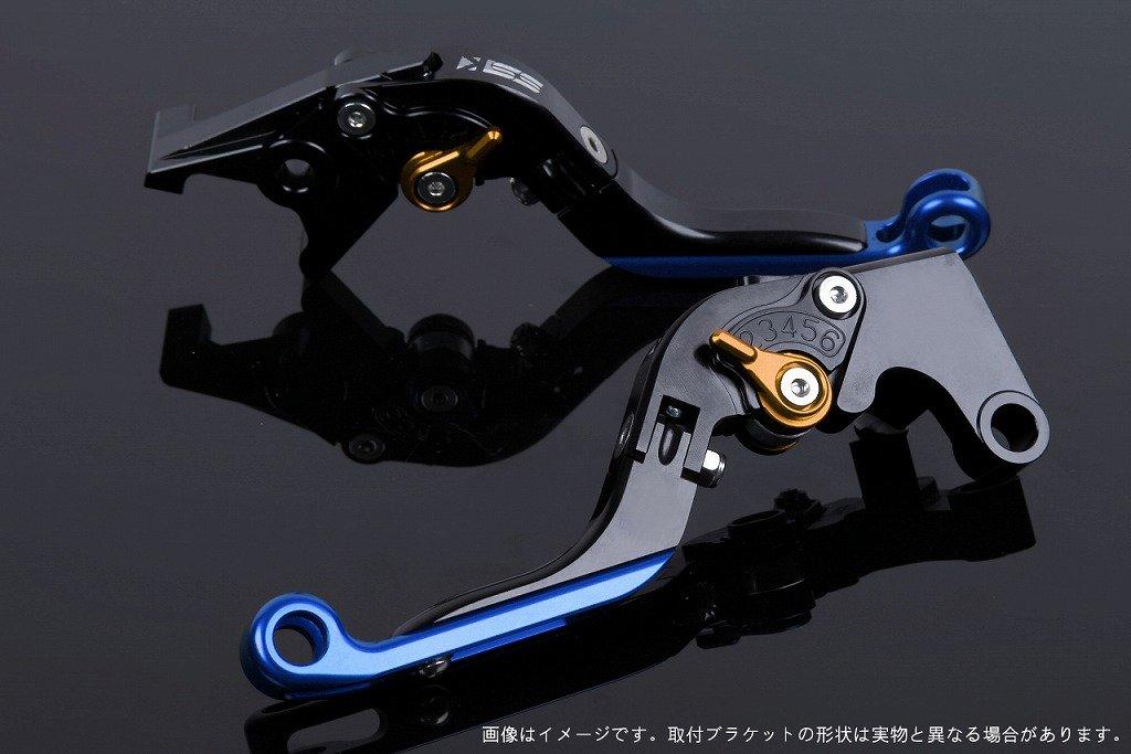 SSK アジャストレバー 可倒延長式 レバー本体カラー:ブラック アジャスターカラー:ゴールド エクステンションカラー:ブルー TUONO V4R/Factory 2011-2016 AP0407116-GDBE B07MXF8XCY
