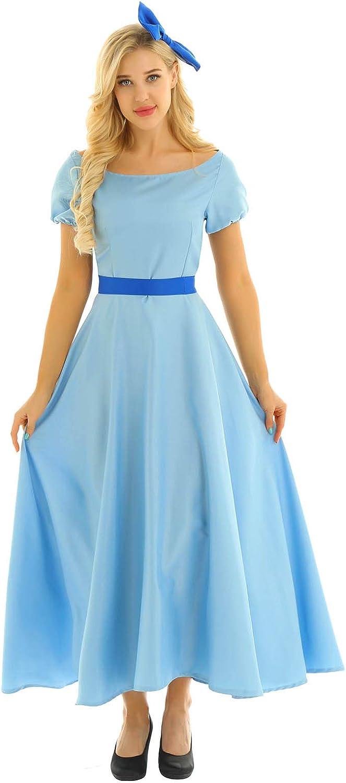 YiZYiF Womens Adult Anime Princess Cosplay Halloween Dress Fancy Dress Outfits