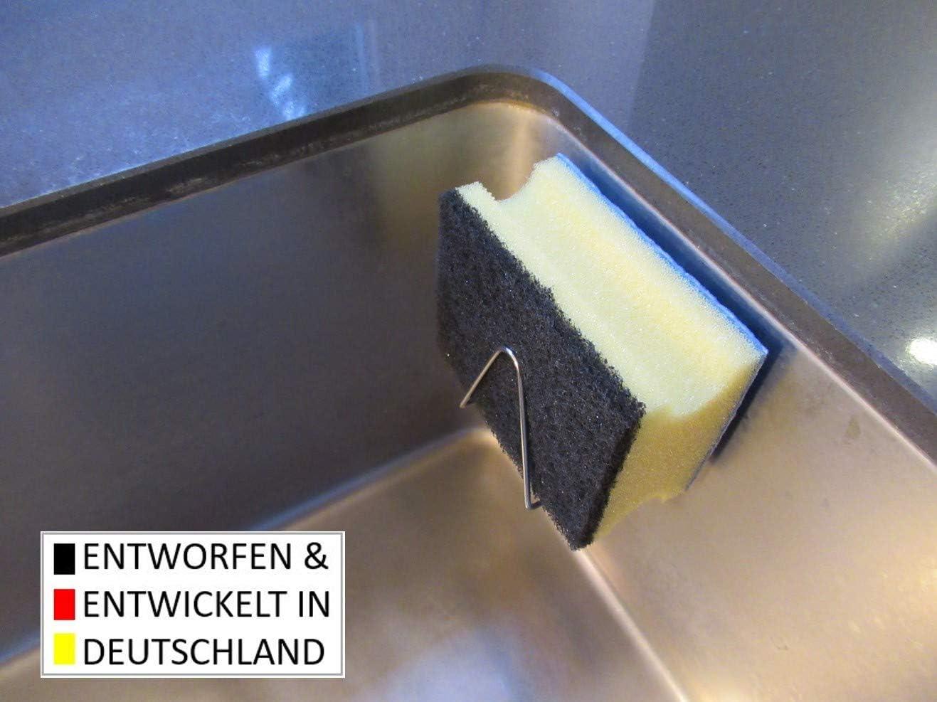 der magnetische Schwammhalter aus rostfreiem Edelstahl Magnes Doppelpack 2 St/ück normal