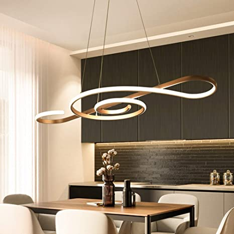 Modern LED Pendant Light Arcylic Chandeliers Dimmable 3000K ...