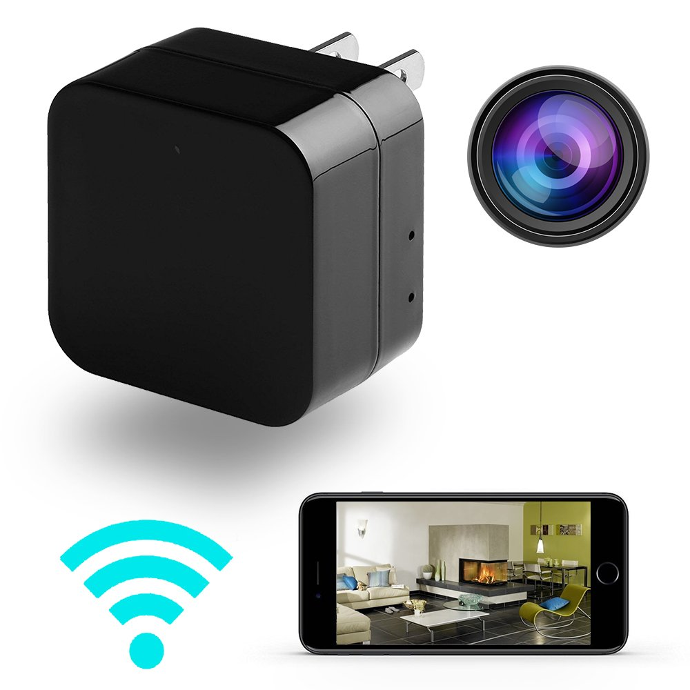 ieleacc - Spy Camera Wireless - Wifi Remote View - Charging Phones - Alarm Message - Motion Detection - HD 1080P - Small Mini Home Security - Nanny Cam - Hidden Camera System