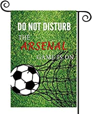 WCGXKOFootball Gift Soccer Game Lover Gift Do Not Disturb The Arsenal Game Is On Funny Yard Flag