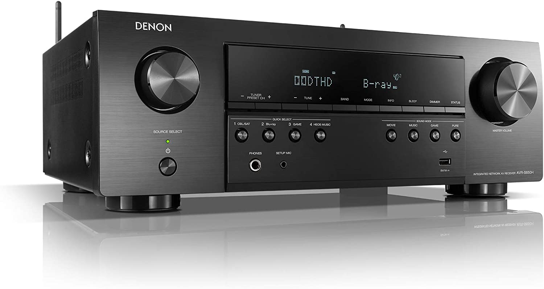 Denon AVR-S650H 5.2 - Receptor AV de Red (4 K, Wi-Fi, Bluetooth, AirPlay HEOS), Color Negro