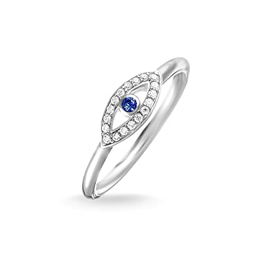 a7f87494a72d Thomas Sabo Women Ring Blue Nazar Eye Ring 925 Sterling Silver  TR2075-412-32  Amazon.co.uk  Jewellery