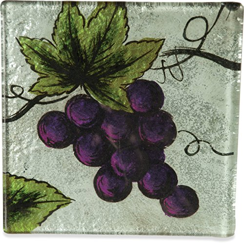 Angelstar 19107 Vineyard Grape Coaster, 4-Inch, Set of 4 ()