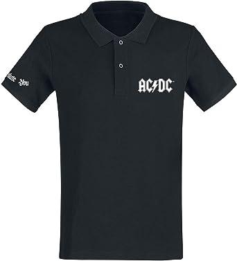 AC/DC We Salute You Polo Negro: Amazon.es: Ropa y accesorios