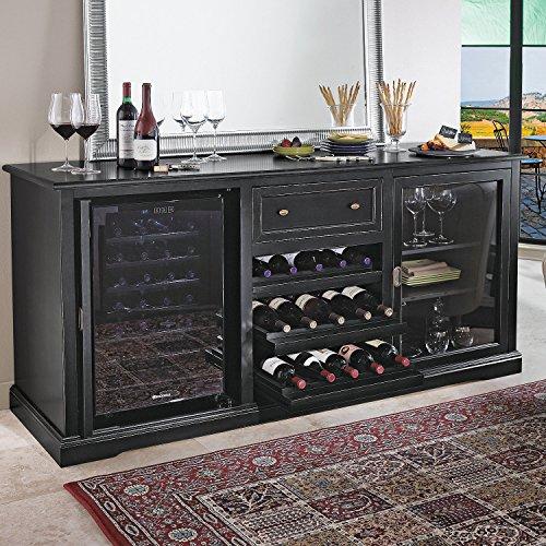 Siena Wine Credenza - Nero - Wine Refrigerator Credenza