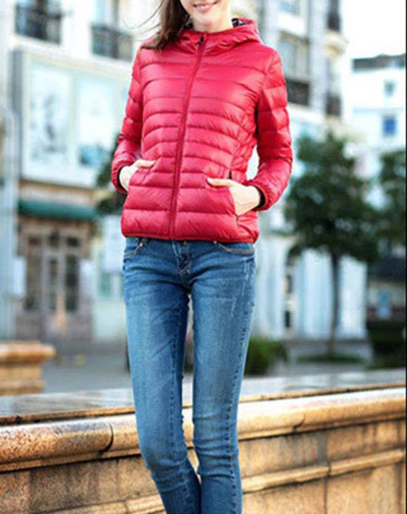Cappotti Donna Corti Giacca Piumino con Cappuccio Ultra Leggera Cappotto Manica Lunga