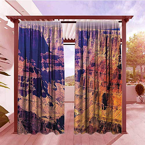 Simple Curtain House Decor Grand Canyon in Arizona with Base Elevations North American Sublime Tribal Landscape Blackout Draperies for Bedroom W108x84L Brown (Best Dove Hunting In Arizona)