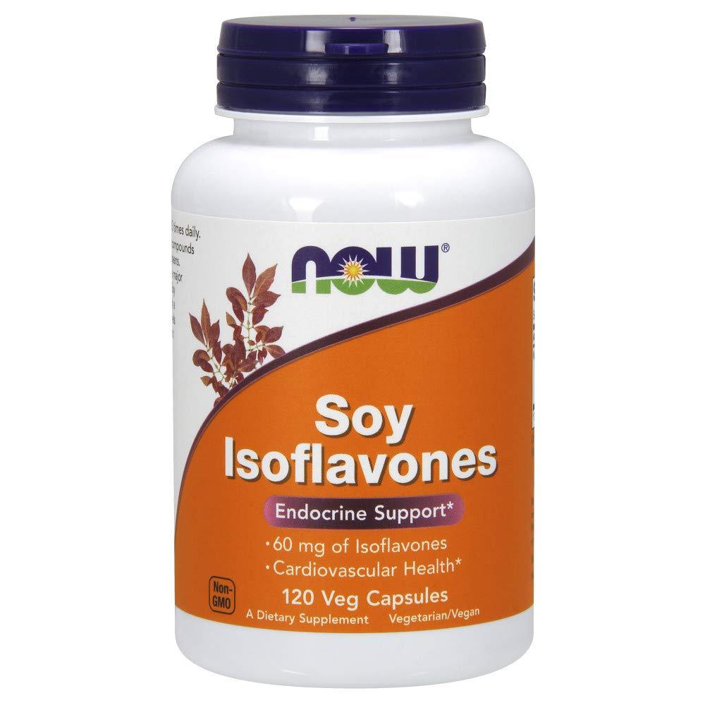 NOW Soy Isoflavones,  60mg , 120 Veg Capsules