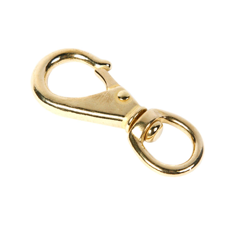 Koch Industries 2216021 Swivel Round Eye Quick Snap, 3-3/4-Inch with 11/16-Inch Eye, Bronze Finish