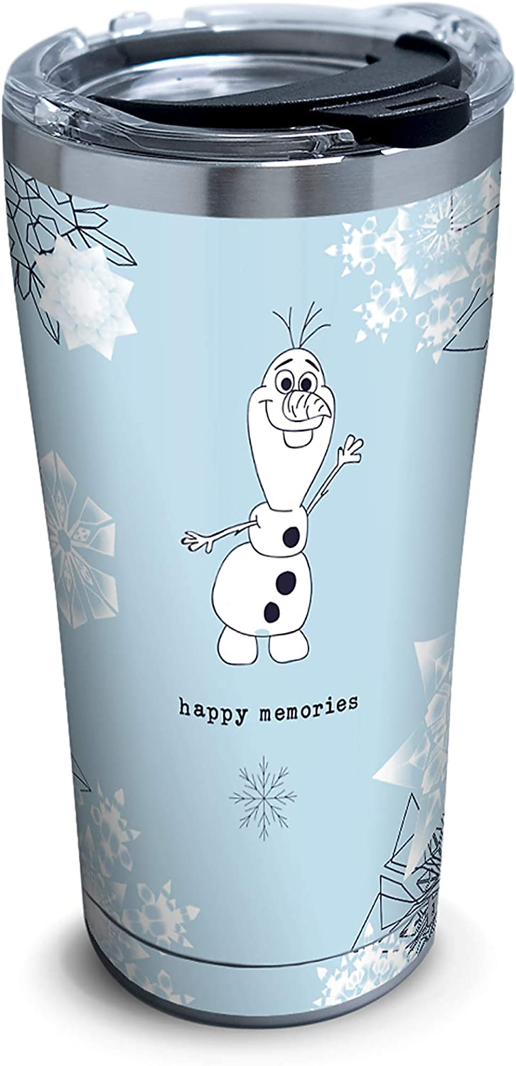 Tervis Disney Frozen 2 Olaf Insulated Travel Tumbler & Lid, 20 oz, Silver