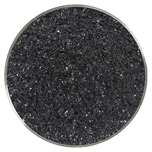 Glass 96 Medium Coe (Aventurine Black Opalescent Medium Frit - 96COE - 4oz - Made from System 96 Glass)