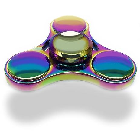 Tri Spinner Fidget Figit Hand Rainbow Finger Premium Ceramic Bearing Stress Reducer