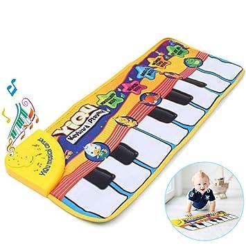 Musikmatte Klaviermatte Klavier Teppich Matte Spielzeug Kindergeschenk DE