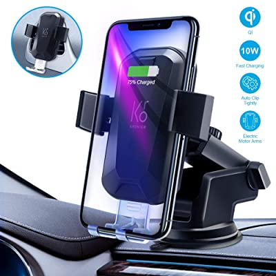 KRONIUM Wireless Car Charger Mounts Auto-Clamping Car Mount, Windshield Dash Air Vent Phone Holder Compatible iPhone 11/11 Pro Max/Xs MAX/XS/X/8/,Samsung S10/S9/S8: Home Audio & Theater