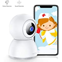 [Stay Strong, USA] Victure 1080P FHD Baby Monitor with Smart Motion Tracking Sound Detection 2.4G WiFi Wireless Home Security Camera Indoor IP Surveillance Pet Camera with Night Vision, 2-Way Audio