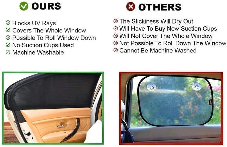 universal de malla transpirable se adapta a la mayor/ía de modelos 99/% protege a los ni/ños//mascotas de los reflejos del sol f/ácil ajuste Parasol para ventana de coche Baby 1st 2020 versi/ón premium Paquete de 2 p