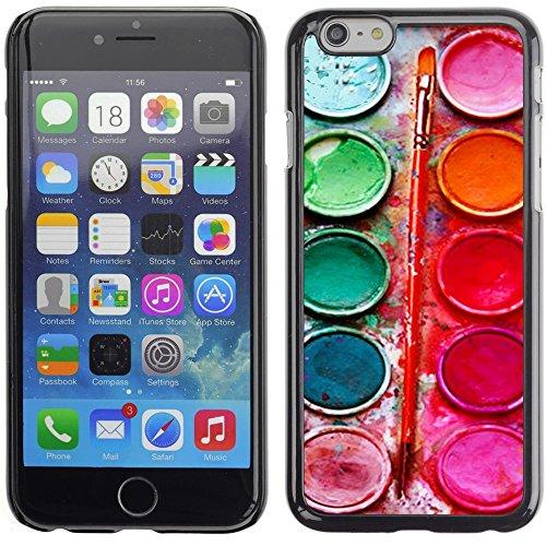 Graphic4You Paint Brush Palette Design Thin Slim Rigid Hard Case Cover for Apple iPhone 7 Plus