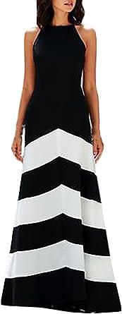 Vestiti Eleganti Bianco E Nero.Hx Fashion Donna Vestiti Tubino Eleganti Da Cerimonia Lunghi