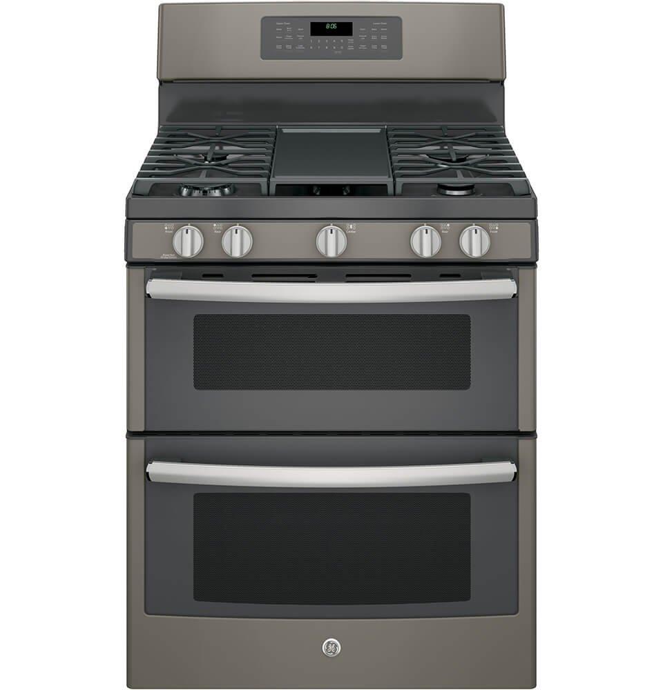 "Amazon.com: GE JGB860EEJES 30"" Slate Gas Sealed Burner Double Oven Range -  Convection: Appliances"