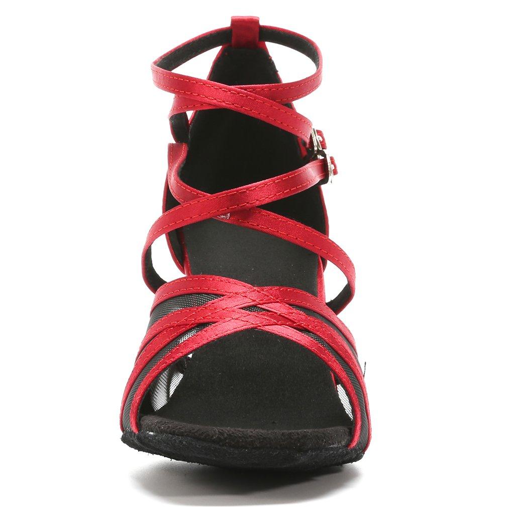 Cygnus Women Dance Shoes Latin Salsa Tango Practice Ballroom Dance Shoes with 2.75 Heel Suede sole//108