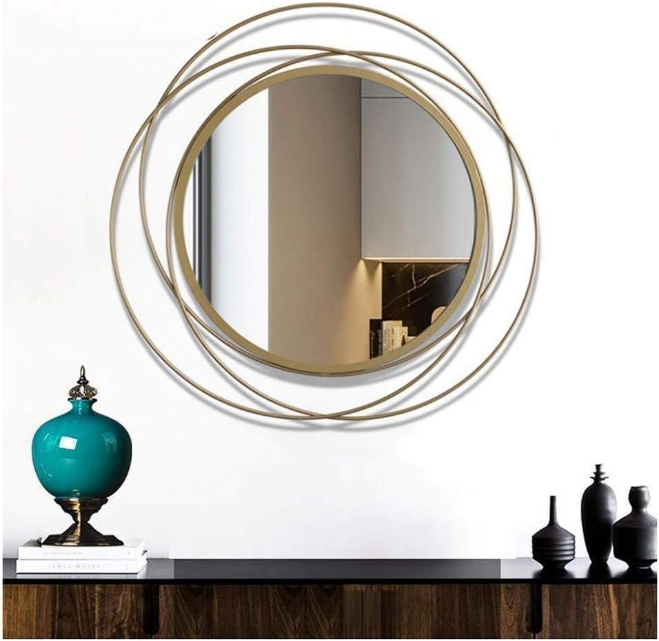 Minimalismo espejo Europeo metal de hierro forjado del resplandor solar de pared decorativos espejo, dormitorio, restaurante, sala de estar, pared espejo del pasillo, pared redondo Espejo decorativo.
