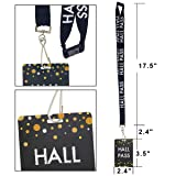Chalkboard Hall Pass Lanyards Confetti-Themed