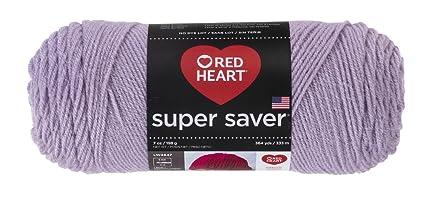 Abrigos de Lana Corazón Rojo Super Saver Yarn-Pale Plum