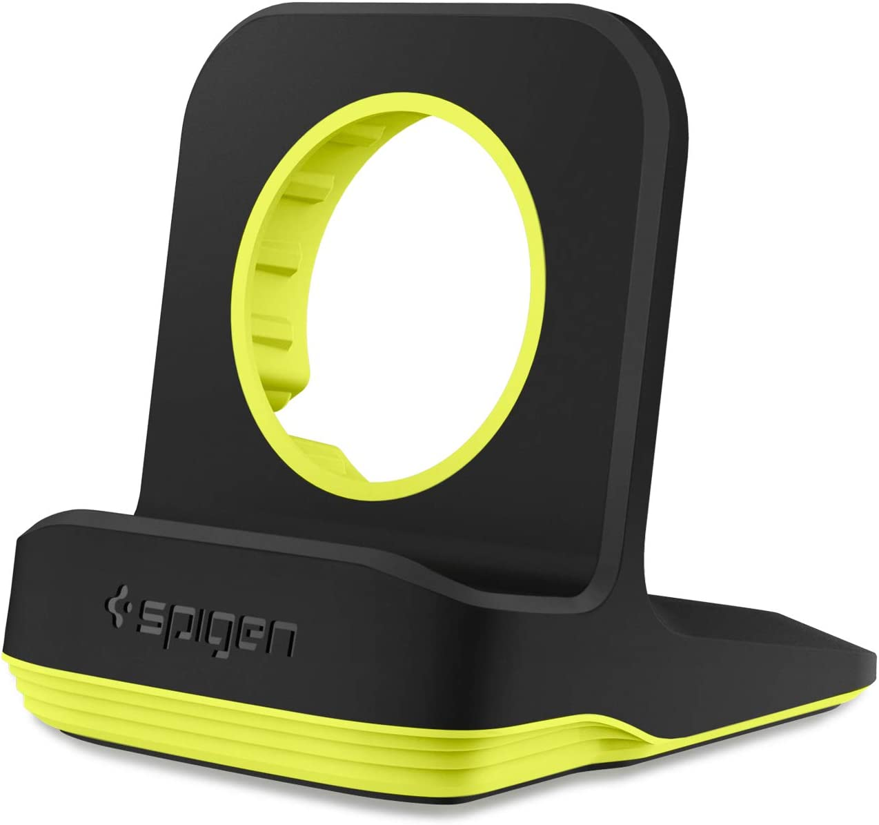 Spigen S350 Designed for Apple Watch Stand for 44mm/40mm Series 6/SE/5/4 and 42mm/38mm Series 3/2/1 - Volt Black