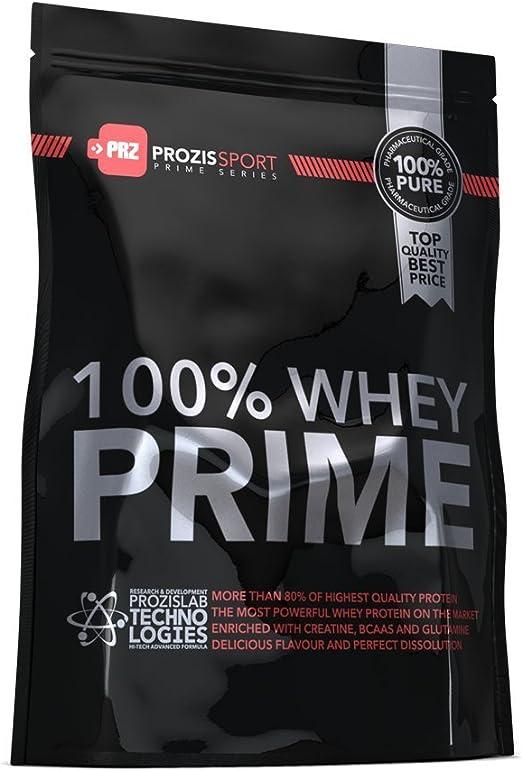 Prozis Sport 100% Whey Prime 2.0 Suplemento de Proteínas, Sabor a Chocolate y Avellanas - 1250 gramos