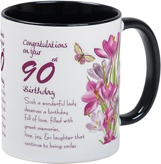 Amazon.com: CafePress – 90th Cumpleaños mariposa y Crocus ...