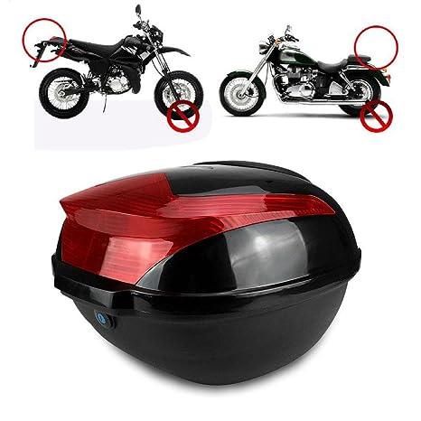 Maleta para Motos Universal Gran Capacidad Motorcycle Moto Scooter Rear Luggage Topcase Topbox Llaves y Accesorios