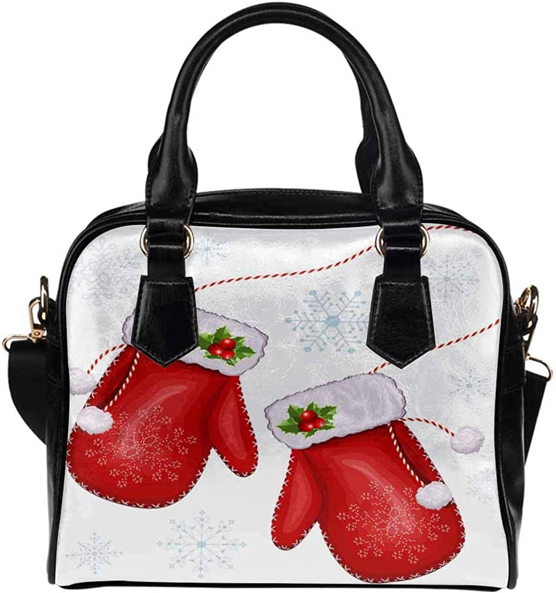 Christmas Santa Claus PU Leather Purse Handbags Shoulder Crossbody Bag for Women Girls