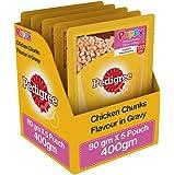 Pedigree Puppy Wet Dog Food, Chicken Chunks in Gravy, 80 g (Pack of 5)