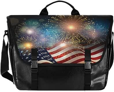 Fireworks - Bolso de lona para hombre y mujer, diseño de estrellas, estilo retro