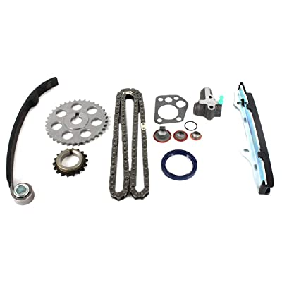 DNJ TK607 Timing Chain Kit for 1989-1997 / Nissan / 240SX, Axxess, D21, Pickup, Stanza / 2.4L / SOHC / L4 / 12V / 2389cc / KA24E: Automotive