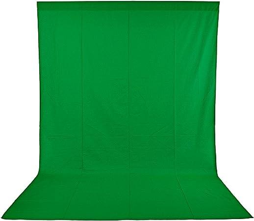 Todo para el streamer: Neewer 10083667 Pro Fondo fotográfico 1,8 x 2.8M, Plegable Telón de Fondo de 100% Pura Muselina para Estudio fotográfico para Fotografía, Vídeo y Televisión, Verde, Incluye únicamente el Fondo