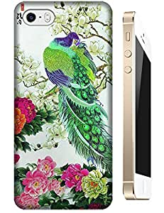 China traditional Chinese painting With Peafowl peony Fashion cell phone cases cover for Apple Accessories iPhone 5/5S