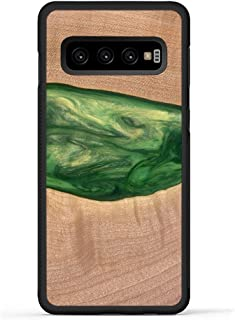 product image for Carved - Wood+Resin Case for Galaxy S10 - One-of-A-Kind, Protective Traveler Bumper Cover (ID: 113055, Green)