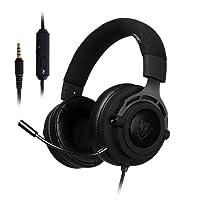 Casque Gaming pour PS4 Xbox One Ecouteur Gamer Stéréo avec Microphone Filaire Réglable Contrôle du Volume Bandeau Flexible pour PC Ordinateur Portable Tablette Mac Conférence Vidéo (Fabric Headband)