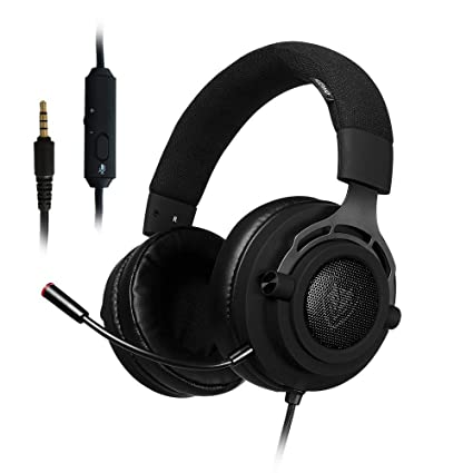 PS4 Xbox One Gaming Headset Stereo, Detachable Microphone, Mute Switch,  3 5mm Jack Wired Over Ear, Computer Headphones Volume Control, for PC,  Laptop,