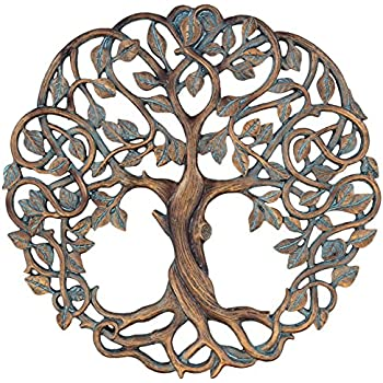 Amazon.com: Tree of Life Metal Wall Hanging Sculptures Garden Art 24 ...