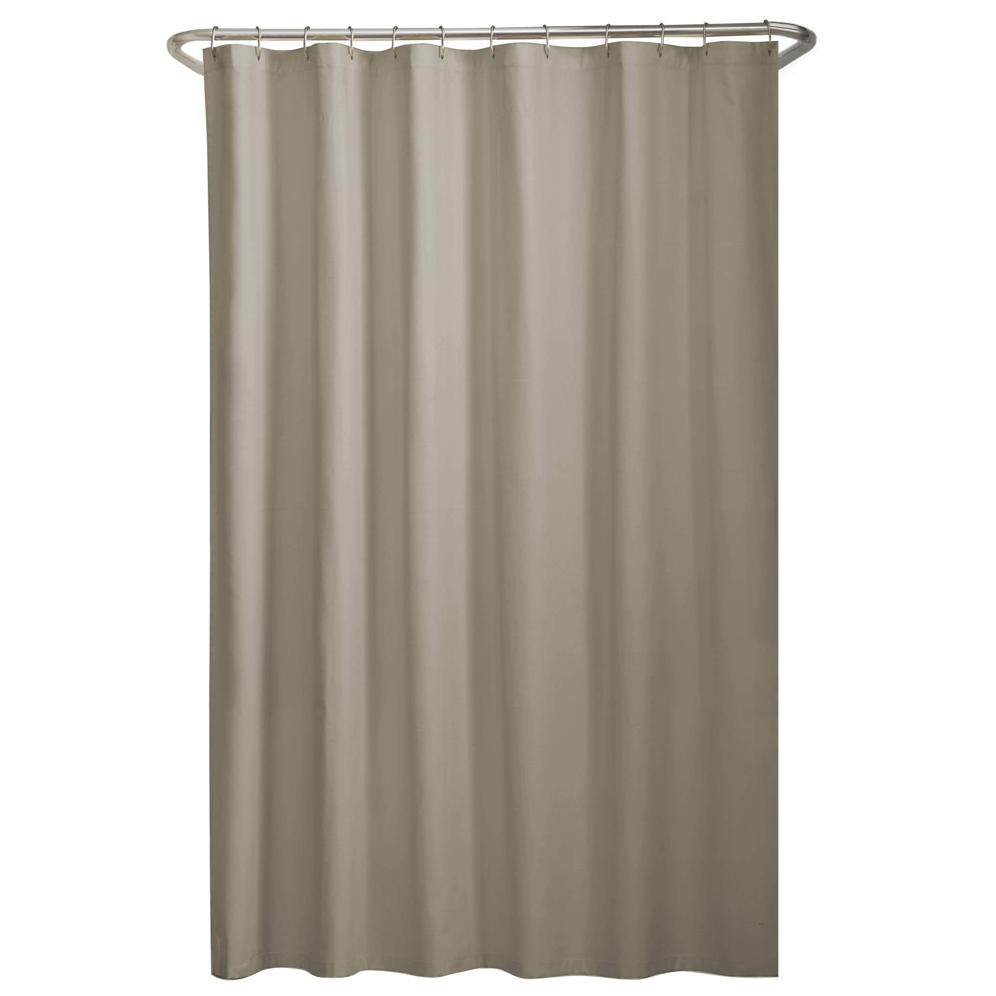 MAYTEX Water Repellent Fabric Shower Curtain or Liner, 70'' x 72'', Beige